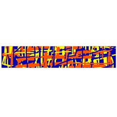 Orange, blue and yellow pattern Flano Scarf (Large)