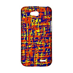 Orange, blue and yellow pattern LG L90 D410