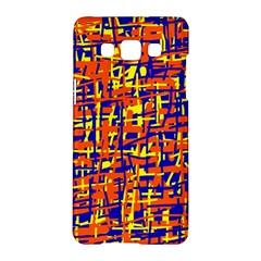 Orange, blue and yellow pattern Samsung Galaxy A5 Hardshell Case