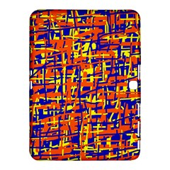 Orange, blue and yellow pattern Samsung Galaxy Tab 4 (10.1 ) Hardshell Case