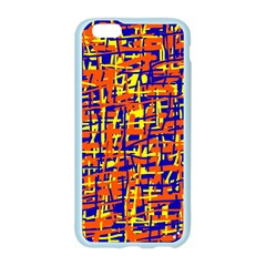 Orange, blue and yellow pattern Apple Seamless iPhone 6/6S Case (Color)