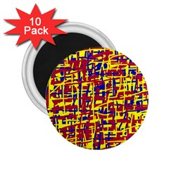 Red, yellow and blue pattern 2.25  Magnets (10 pack)