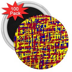 Red, yellow and blue pattern 3  Magnets (100 pack)