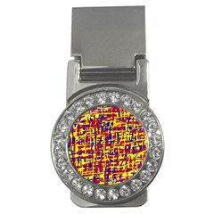 Red, yellow and blue pattern Money Clips (CZ)