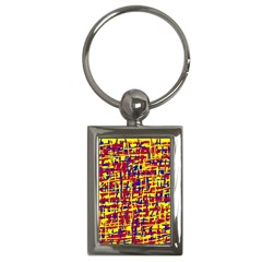 Red, yellow and blue pattern Key Chains (Rectangle)