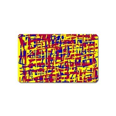 Red, yellow and blue pattern Magnet (Name Card)