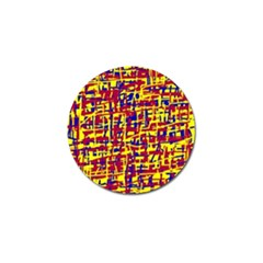 Red, yellow and blue pattern Golf Ball Marker