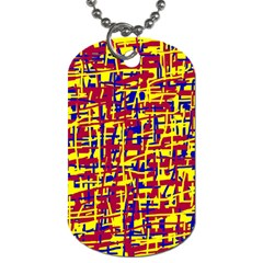 Red, yellow and blue pattern Dog Tag (Two Sides)