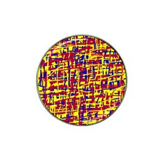 Red, yellow and blue pattern Hat Clip Ball Marker (10 pack)