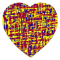 Red, yellow and blue pattern Jigsaw Puzzle (Heart)
