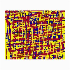 Red, yellow and blue pattern Small Glasses Cloth