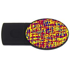 Red, yellow and blue pattern USB Flash Drive Oval (4 GB)