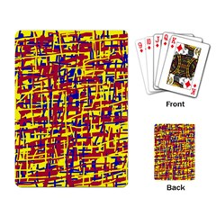 Red, yellow and blue pattern Playing Card