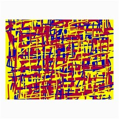 Red, yellow and blue pattern Collage Prints