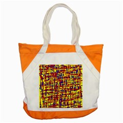 Red, yellow and blue pattern Accent Tote Bag