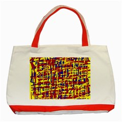 Red, yellow and blue pattern Classic Tote Bag (Red)
