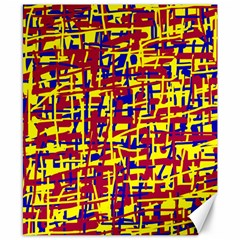 Red, yellow and blue pattern Canvas 8  x 10