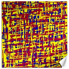 Red, yellow and blue pattern Canvas 12  x 12