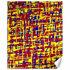 Red, yellow and blue pattern Canvas 16  x 20