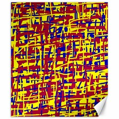 Red, yellow and blue pattern Canvas 20  x 24