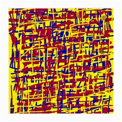 Red, yellow and blue pattern Medium Glasses Cloth (2-Side)