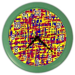 Red, yellow and blue pattern Color Wall Clocks