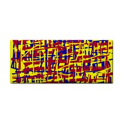 Red, yellow and blue pattern Hand Towel
