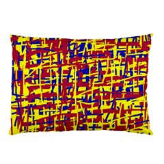 Red, yellow and blue pattern Pillow Case