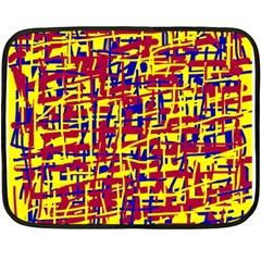 Red, yellow and blue pattern Fleece Blanket (Mini)