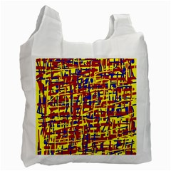 Red, yellow and blue pattern Recycle Bag (One Side)