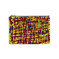 Red, yellow and blue pattern Cosmetic Bag (Medium)