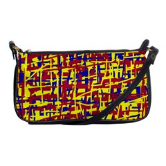 Red, yellow and blue pattern Shoulder Clutch Bags