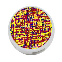 Red, yellow and blue pattern 4-Port USB Hub (One Side)