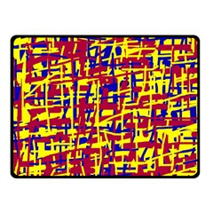 Red, yellow and blue pattern Fleece Blanket (Small)