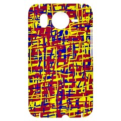 Red, yellow and blue pattern HTC Desire HD Hardshell Case