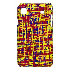 Red, yellow and blue pattern Samsung Galaxy S i9008 Hardshell Case