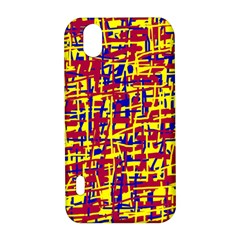Red, yellow and blue pattern LG Optimus P970