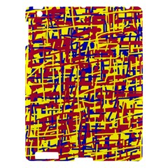 Red, yellow and blue pattern Apple iPad 3/4 Hardshell Case