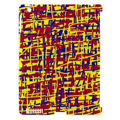 Red, yellow and blue pattern Apple iPad 3/4 Hardshell Case (Compatible with Smart Cover)