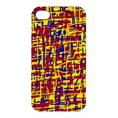 Red, yellow and blue pattern Apple iPhone 4/4S Premium Hardshell Case