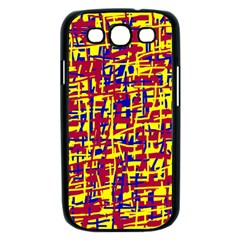 Red, yellow and blue pattern Samsung Galaxy S III Case (Black)