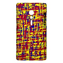 Red, yellow and blue pattern Sony Xperia ion