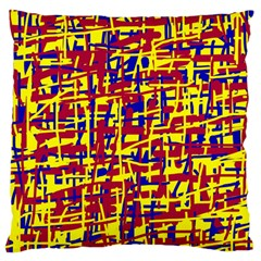 Red, yellow and blue pattern Large Cushion Case (Two Sides)