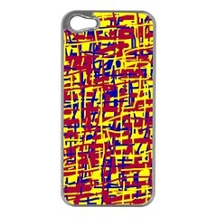 Red, yellow and blue pattern Apple iPhone 5 Case (Silver)