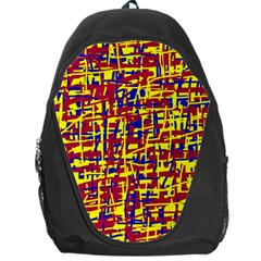 Red, yellow and blue pattern Backpack Bag