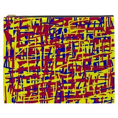 Red, yellow and blue pattern Cosmetic Bag (XXXL)