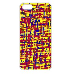 Red, yellow and blue pattern Apple iPhone 5 Seamless Case (White)