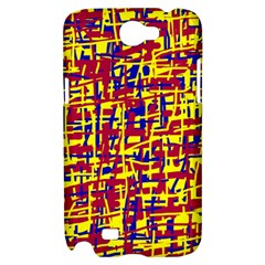 Red, yellow and blue pattern Samsung Galaxy Note 2 Hardshell Case