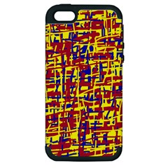 Red, yellow and blue pattern Apple iPhone 5 Hardshell Case (PC+Silicone)