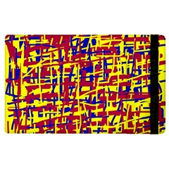 Red, yellow and blue pattern Apple iPad 2 Flip Case